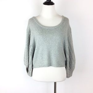 Kaisely Knit Cropped Bell Sleeve Sweater Size L